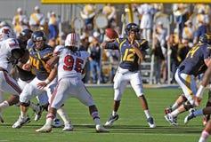 WVU quarterback Geno Smith - pass Royalty Free Stock Image