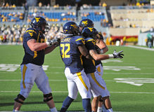 WVU Touchdown celebration Royalty Free Stock Image