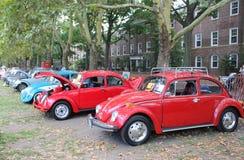 WW在加弗纳斯岛, NY,美国的车展 免版税库存照片