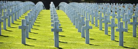 WW2 αμερικανικό νεκροταφείο και αναμνηστικός, παραλία της Ομάχα Νορμανδία, φράγκο στοκ φωτογραφίες