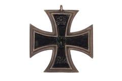 WW1 γερμανικός σταυρός σιδήρου μεταλλίων Στοκ Εικόνες