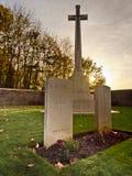 WW1 великобританское кладбище - холм 62 Стоковые Фотографии RF