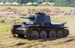 WW2德国人Panzer 38 (t)轻型坦克 免版税库存图片
