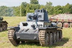 WW2德国人Panzer 38 (t)轻型坦克 库存照片