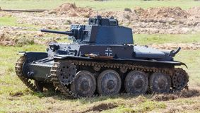 WW2德国人Panzer 38 (t)轻型坦克 图库摄影