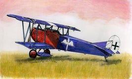 WW1福克战斗机DVII 免版税库存照片