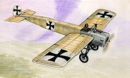 WW1福克战斗机Eindekker EIII 免版税库存图片