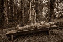 WW1纪念品雕刻 库存图片