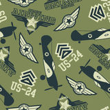 WW2 air squadron seamless pattern Royalty Free Stock Photos