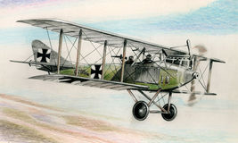 WW1 Albatros C1 illustration stock