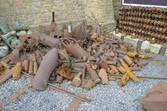 WW1 Ammunition stored near Ypres Stock Images