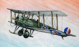 WW1 Avro 504K illustration libre de droits