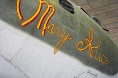 WW2 B-17G飞行堡垒玛丽阿丽斯 免版税库存照片