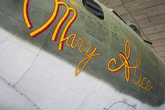 WW2 B-17G Flying Fortress Mary Alice. World War Two Boeing B-17 Flying Fortress bomber aircraft, Mary Alice. Imperial War Museum, Duxford, England Royalty Free Stock Photo