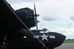 WW2 bomber on display memorial day Stock Photo