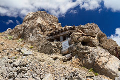 Ww1 building in Dolomites Stock Images