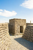 A WW1 Bunker in the trench of death Belgium world war. royalty free stock image