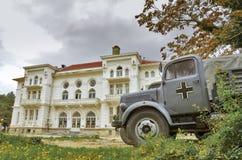 WW2 camion allemand - scène de film dans Bitola, Macédoine Photographie stock