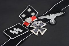 WW2 CC$SS Niemiecka militarna insygnia z żelazo krzyża nagrodą Obrazy Royalty Free