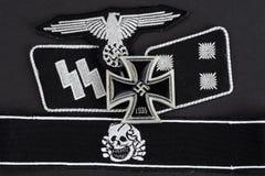 WW2 CC$SS wojskowego Niemiecka insygnia Obraz Stock