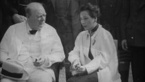 WW2 - Churchill, Roosevelt y Chiang Kai-shek en la conferencia de El Cairo