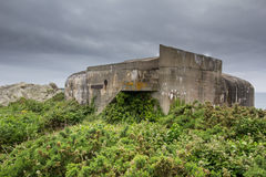 WW2 concrete fortification Royalty Free Stock Photo