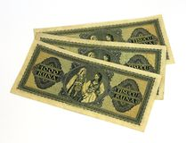 WW2 Croatian paper money kuna Royalty Free Stock Photo