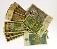 WW2 Croatian paper money kuna Stock Image