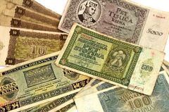 WW2 Croatian paper money kuna Royalty Free Stock Photos