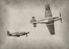 WW2 era fighter plane Royalty Free Stock Image