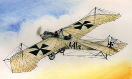 WW1 Etrich Taube illustration de vecteur