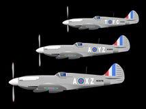 WW2 Fighter Aircraft On Patrol stock illustration