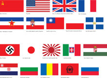 WW2 flags. Several basic flags of World War 2 Royalty Free Stock Images