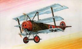 WW1 Fokker DR1 illustration stock