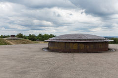 WW1 Fort Douaumont near Verdun in France with machine gun turret. Fort Douaumont near Verdun in France with machine gun turret used in First World War One. It royalty free stock image