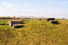 A WW1 foxhole trench of death in Diksuimde Flanders Belgium Royalty Free Stock Image