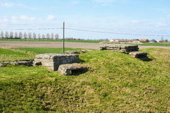 WW1 foxhole trench of death in Diksuimde Flanders Belgium Royalty Free Stock Photo