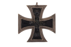WW1 german medal Iron Cross. Isolated on white stock photos