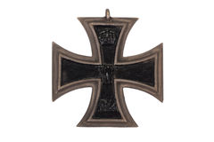 WW1 german medal Iron Cross. Isolated on white stock photo