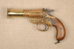 WW1 great War Military flare pistol Royalty Free Stock Photos