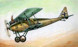 WW1 Halberstadt D2 illustration stock
