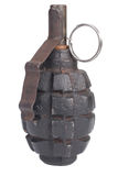 WW2 hand grenade isolated. On a white background Stock Photos