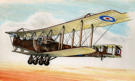 WW1 Handley Page 0/400 Stock Photo