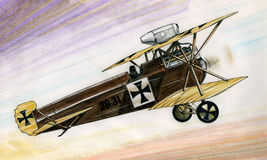 WW1 Hansa Brandenburg D1 illustration de vecteur