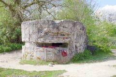WW1 Heuvel 60 Bunker in de wereldoorlog van geulbelgië. royalty-vrije stock foto's