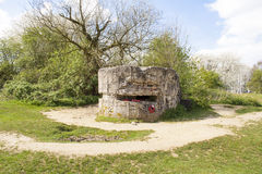 The WW1 Hill 60 Bunker in the trench Belgium world war. stock photo