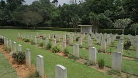 WW2 historische herdenkingsmening in Maleisië stock footage