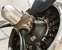 WW II战斗机引擎 免版税库存图片
