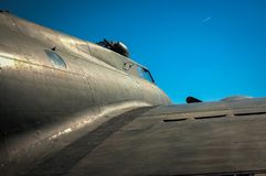 World War II bomber e at rest stock photography