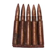 WW II bullets isolated Stock Photos